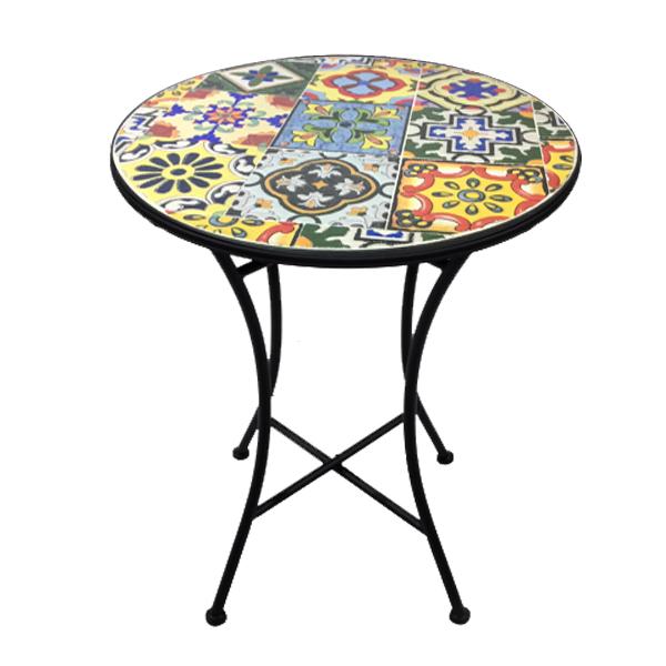 Patio Bistro Table - Ceramic - Mosaic