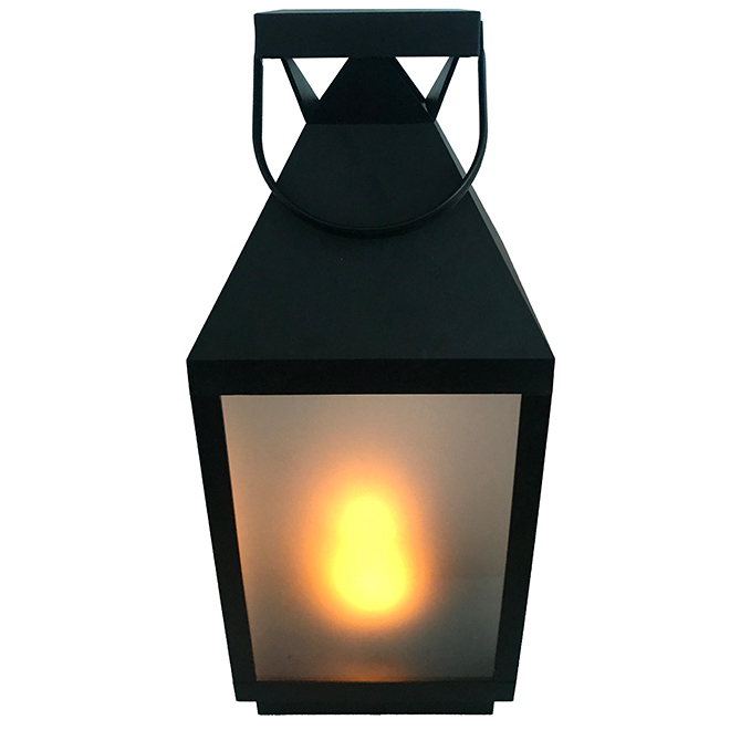 """Outdoor Lantern with LED Candle - 18.1"""""""