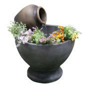 Fontaine avec pot de fleur, 23,23'' x 27,95'', GRC