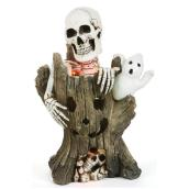 Haunted Living Decoration Piece - Skeleton and Ghost on a Tree