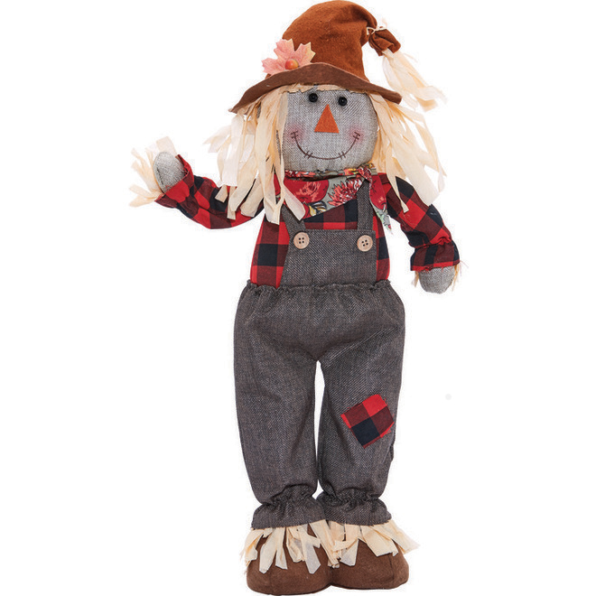 Haunted Living Standing Scarecrow Boy - 24-in