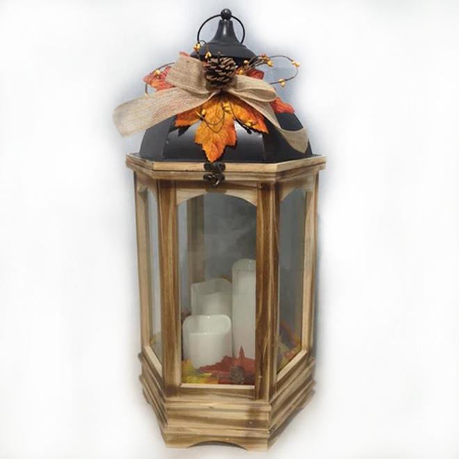 Lanterne décorative Haunted Living avec lumière DEL, Halloween/Action de grâce, métal