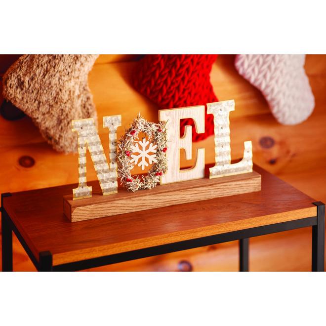 Décoration de table Holiday Living, lettres Noël, MDF