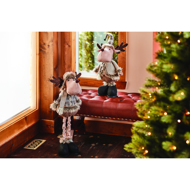Holiday Living Moose Plush with Scarf - Polyester
