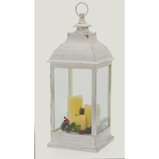 Holiday Living Lantern - 20-in - Antique White