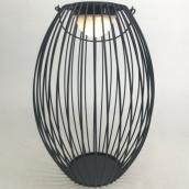 Infinity Outdoor Lantern - Metal - 13.78-in x 9.25-in - Black