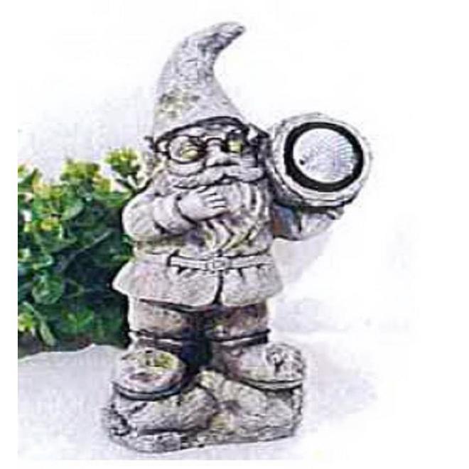 Statue solaire en forme de nain de jardin, polyrésine