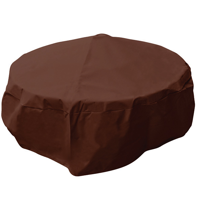 """Outdoor Firepit Cover - 38"""" x 18"""" - Fabric - Brown"""