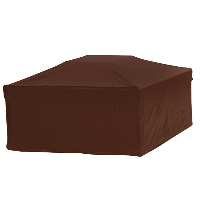 Elemental Outdoor Square Firepit Cover - 30.5-in x 24.5-in - Fabric - Brown