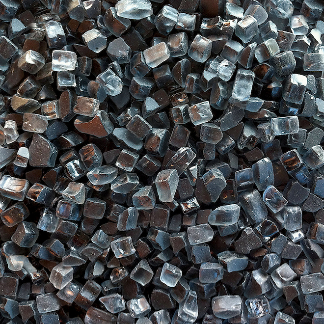 Endless Summer Crushed Glass for Fire Pit - 15 lb - Black