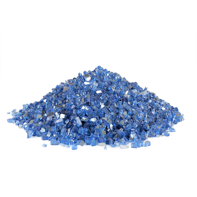 Endless Summer Crushed Flass for Fire Pit - 15 lb - Blue