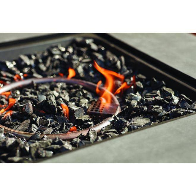 Foyer au gaz Endless Summer, manteau d'aspect de béton, noir, 30 po H. x 30 po l. x 24 19/32 po p.