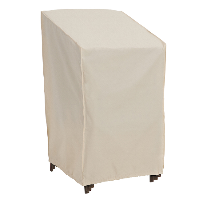 Elemental Stacked Patio Chair Cover - 30-in x 27-in x 48-in - Tan