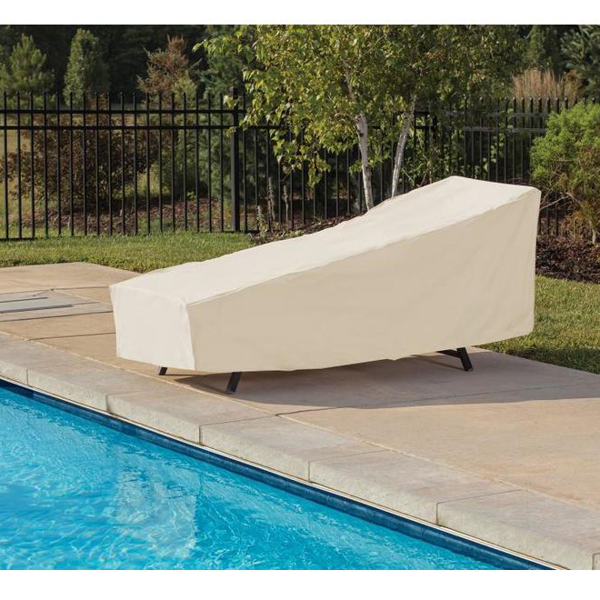 Elemental Outdoor Chaise Lounge Cover - 28-in x 76-in x 30-in - Tan