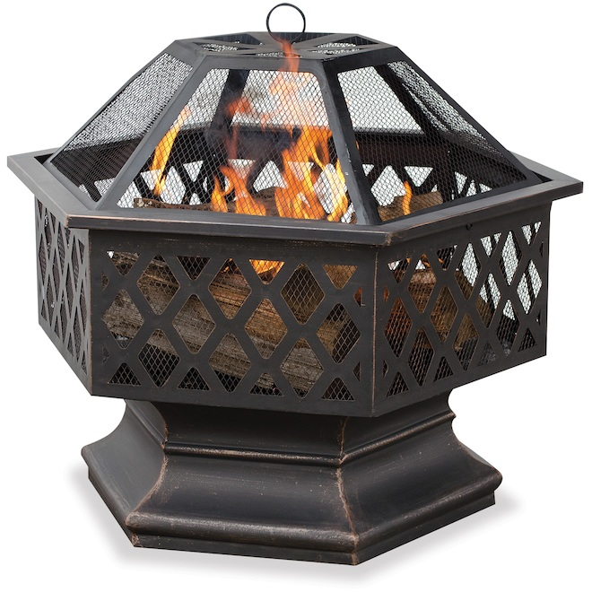 Fire Island 28-in Hexagonal Outdoor Wood Fireplace