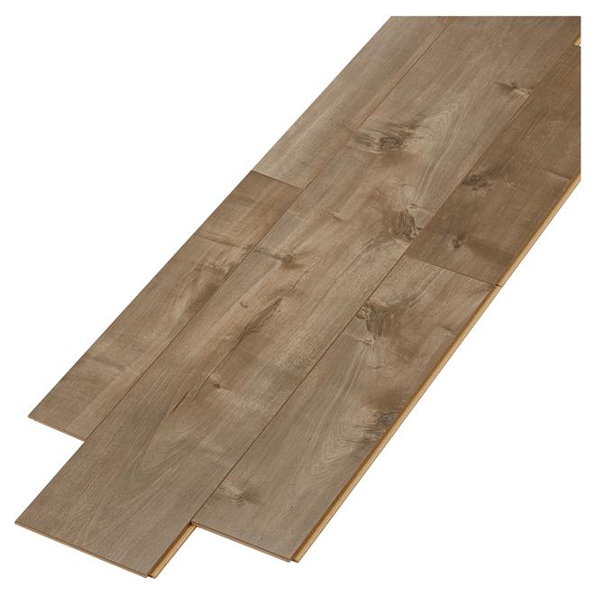 Plancher stratifié en HDF, 12 mm, aléatoire, gris ombre