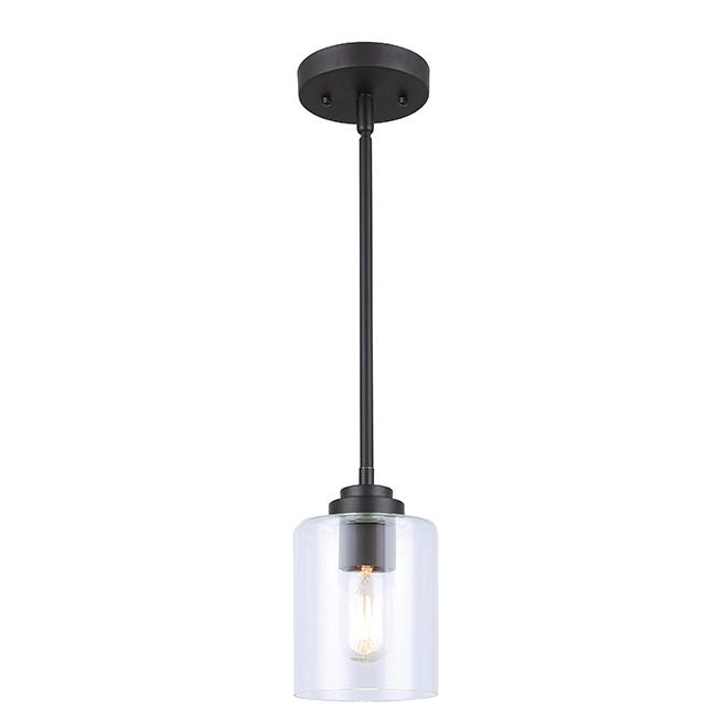 Luminaire suspendu à 1 lumière montebello bronze huilé
