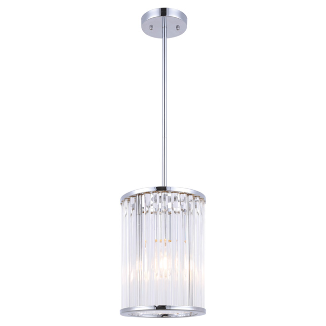 Metz 1 light pendant chrome