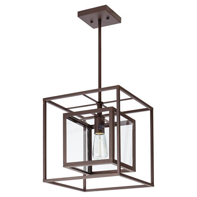"""Isola 1-Light Pendant Light - 12"""" x 12"""" - Oil-Rubbed Bronze"""