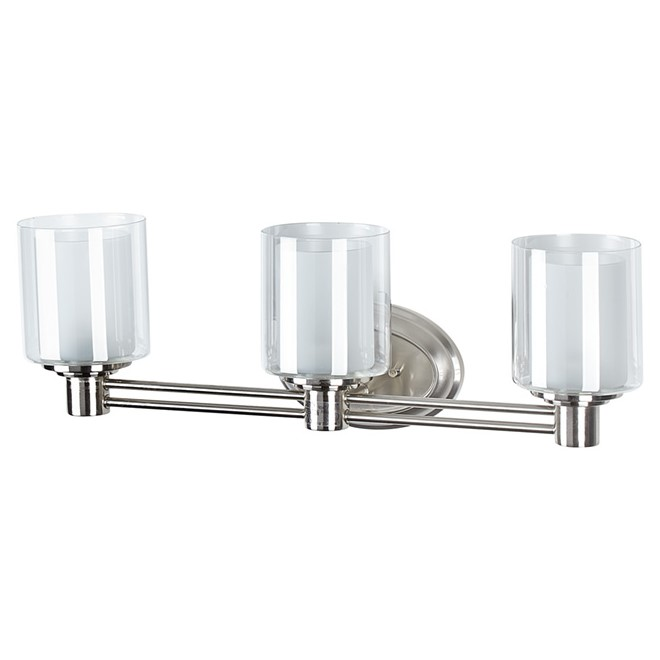 Perth 3 lights wallsconce brushed nickel