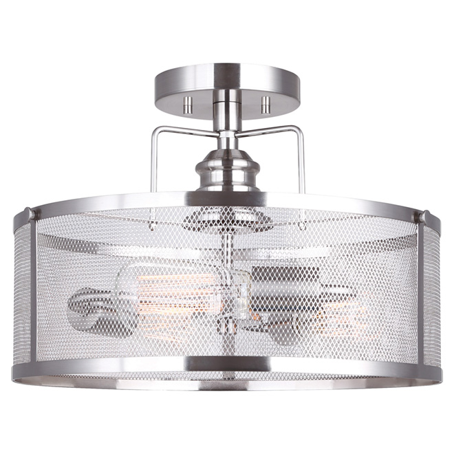 Semi Flush-Mount Light - 3 Lights - Beckett - Brushed Nickel  sc 1 st  RONA & Semi Flush-Mount Light - 3 Lights - Beckett - Brushed Nickel | RONA