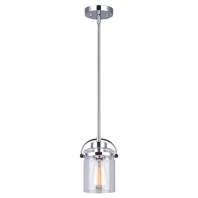 Pendant Light - Elize - 1 Light - 100W - Chrome