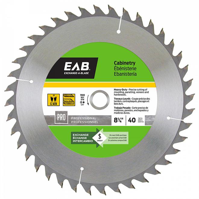 EAB Woodworking Carbide Saw Blade - 5/8-in Arbor dia - Single Direction - 40 Teeth