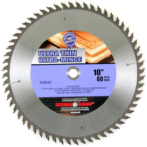 "EAB Tool Carbide Ultra Thin Saw Blade - 10"" x 60 Teeth - Professional - Exchangeable"