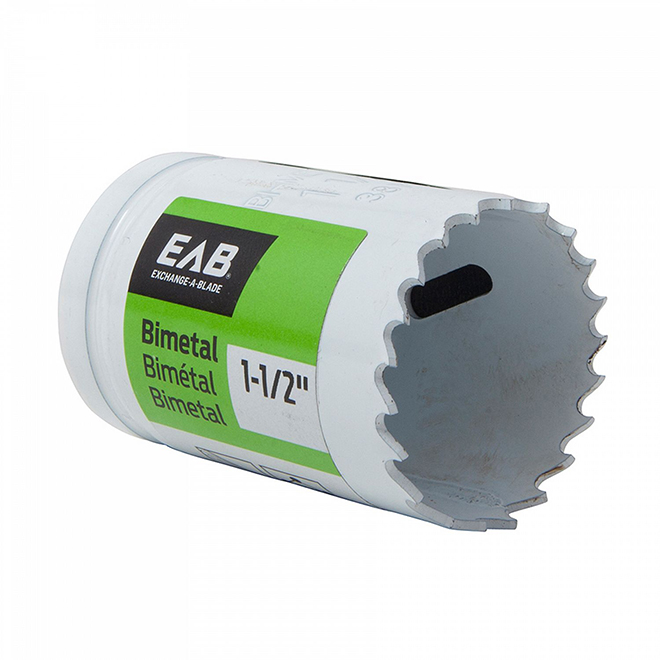 EAB Recyclable and Exchangeable Industrial M3 Hole Saw - 1 1/2-in Dia - 1 5/8-in Cutting Depth - Bi-Metal - Non-Arboured