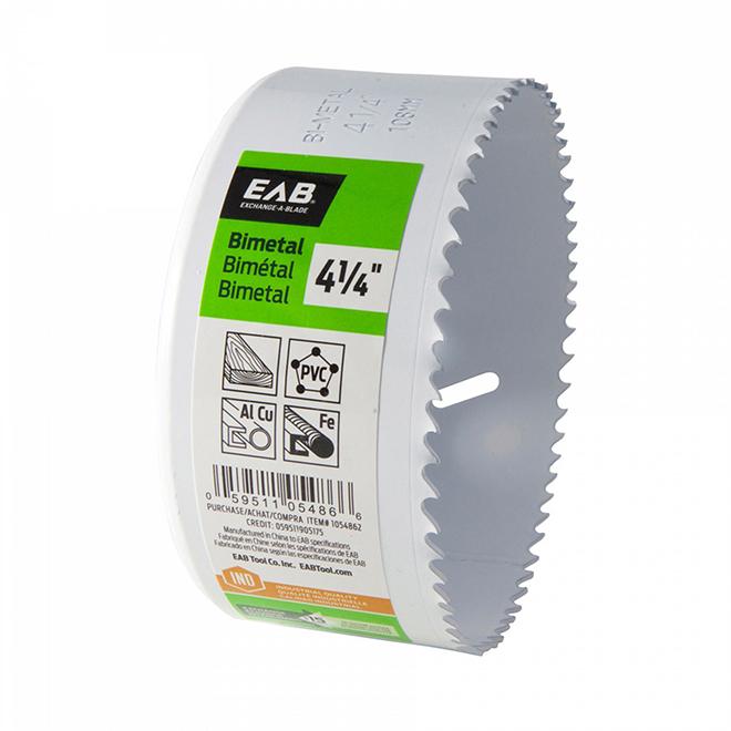 """Scie emporte-pièce EAB Tool bimétal (M3) Industriel, échangeable, 4 1/4"""""""