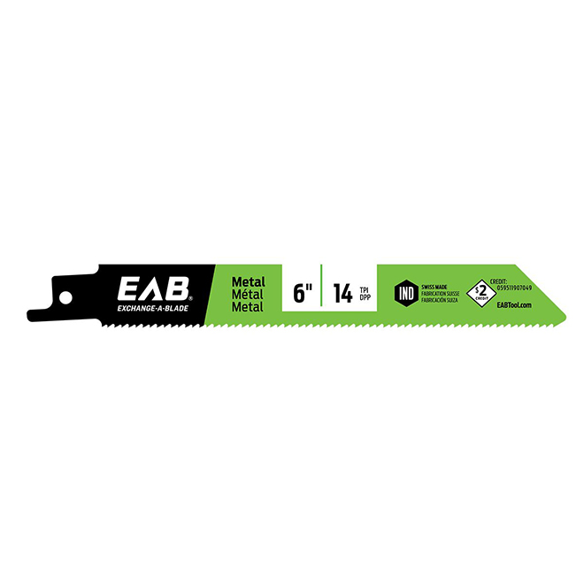 EAB Industrial Reciprocating Saw Blade - 6-in L - 24 TPI - Hardened Steel