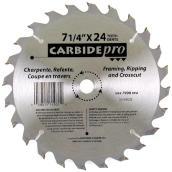 Circular Saw Blade - Carbide - 7 1/4