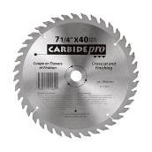 Lame de scie pour tronçonnage « Carbide Pro », 7 ¼ po, 40 DT