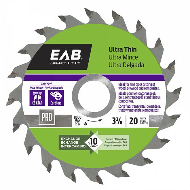 EAB Ultra Thin Circular Saw Blade - Carbide - 20-Teeth - 3 3/8-in dia