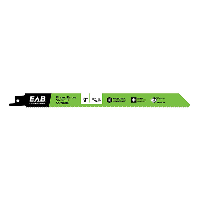 EAB Reciprocating Blade - Recycled Blade - demolition - 9-in 10/14 TPI