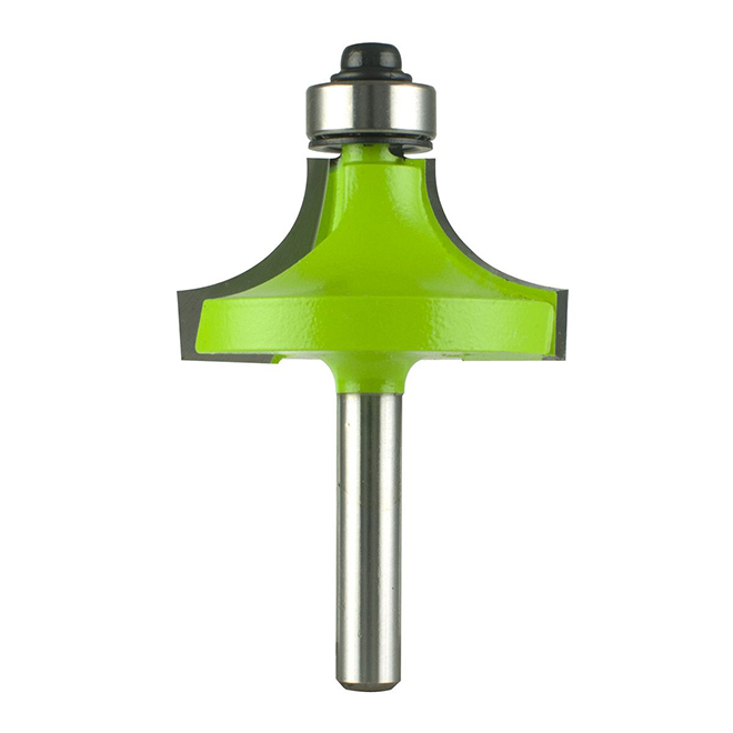 """EAB Tool 1 1/2"""" x 1/4"""" Shank Corner Round Professional Router Bit - Exchangeable"""