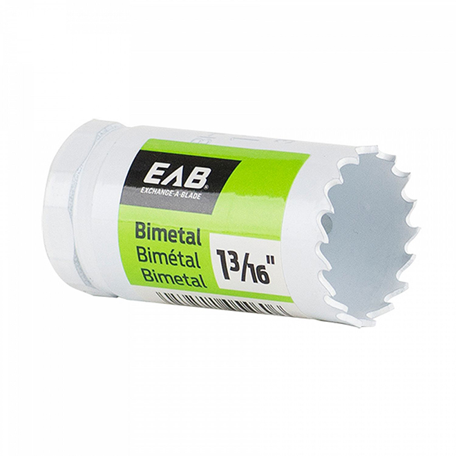 "EAB Tool M3 Bimetal Industrial Hole Saw - 1 3/16"" - Exchangeable"