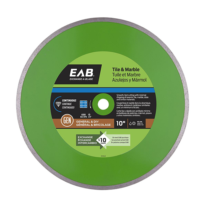 Exchange-A-Blade Continuous Diamond Blade - Green Series - 10""