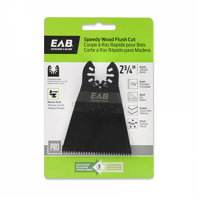 "EAB Tool HCS Speedy Flush Cut (Wood) - Professional Oscillating Accessory - 2 3/4"" - Exchangeable"