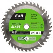 """Green Blade"" Finishing Carbide Blade- 7/14 in. - 40 Teeth - Exchangeable"