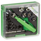 Ensemble de clé à cliquet de poche, 19 morceaux, recyclable