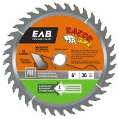 Razor Back Carbide Circular Saw Blade - 36 TH - 6