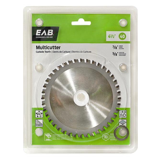 EAB Fine Saw Blade - Circular Shape - Carbide - Cross Cutting Wood Utilization - 40 Teeth