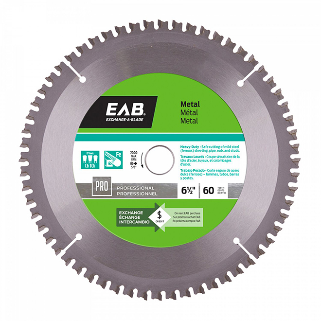 EXCHANGE-A-BLADE Metal Carbide Circular Saw Blade - 60 TH - 6 1/2