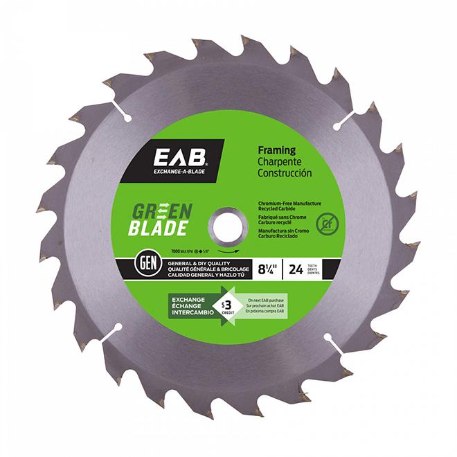 EAB Fine Saw Blade - Circular Shape - Carbide - Lumber Cutting Utilization - 24 Teeth