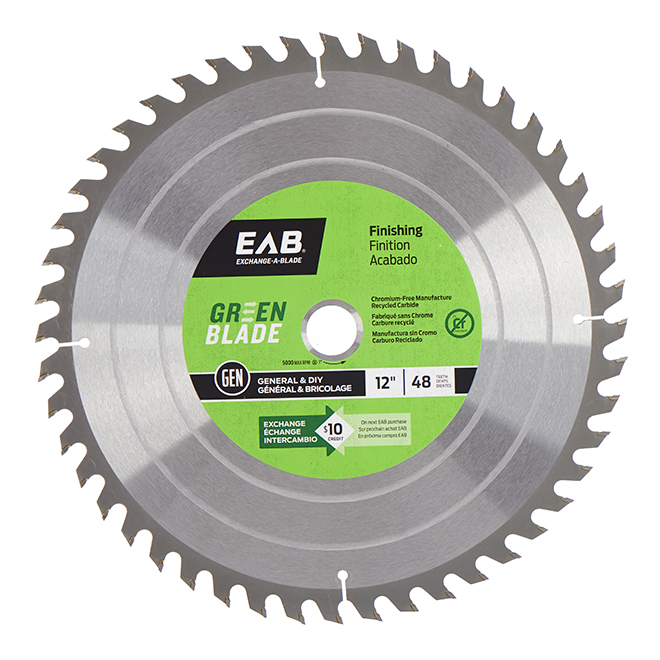 Green Blade Finishing  Circular Saw Blade - 48 TH - 12""
