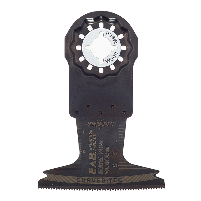 """EAB Tool 2 1/2"""" Bimetal Flush Cut Blade for Wood and Metal - Starlock Industrial Oscillating Accessory - Exchangeable"""