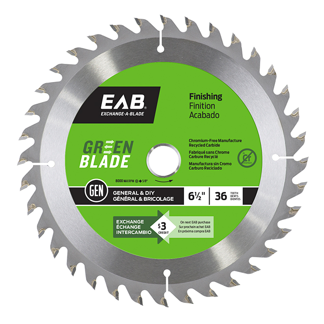 EAB Finishing Saw Blade - Circular Shape - Carbide - Lumber Utilization - 36 Teeth