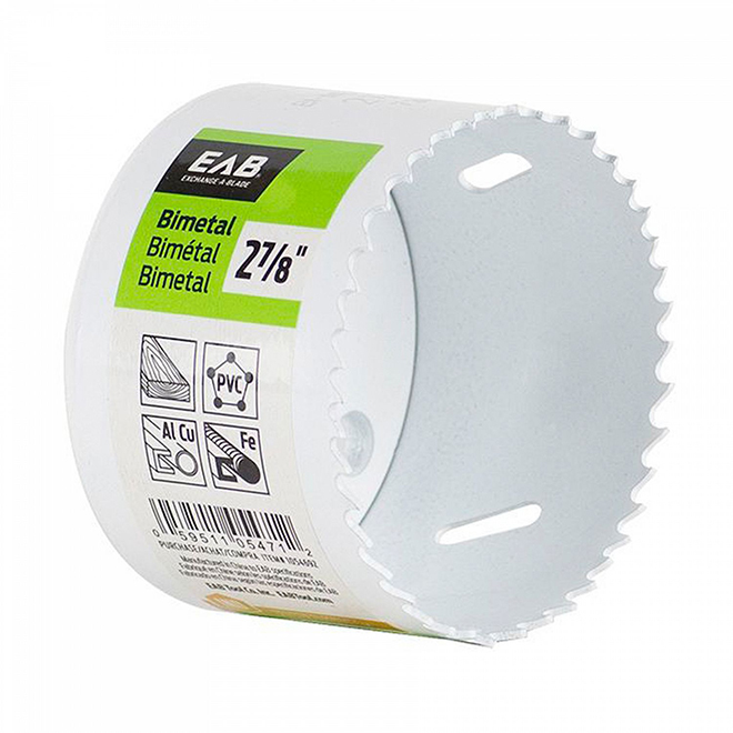 EAB Bi-metal M3 Hole Saw - 2 7/8-in Dia - 1 5/8-in Cutting Depth - White