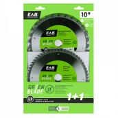 "EAB Tool Carbide Framing and Finishing Saw Blades - Green Series - 10"" x 28 and 60 Teeth - Exchangeable - 2/Pack"